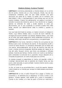 Resumen de la primera parte de Madame Bobary, G. Flaubert