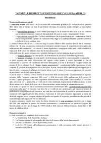 Riassunto diritto penitenziario Canepa - Merlo