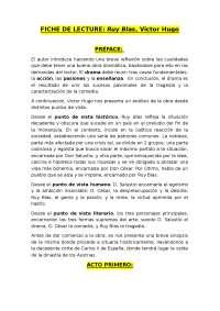Resumen de Ruy Blas, Victor Hugo