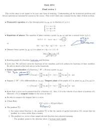 multivariable calculus final review