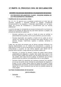 APUNTES DERECHO PROCESAL UCM