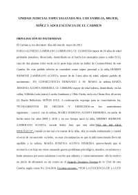 MODELO DE DEMANDA DE IMPUGNACIÓN DE PATERNIDAD