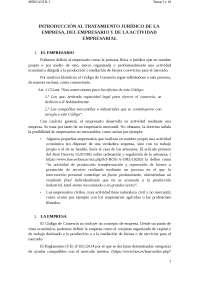 Aqui os dejo 2 temas sobre derecho mercantil referidos a la empresa y todo su contenido.