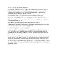 Tema 1. EL LCONTRATO: negocio jurídico, contrato y autonomía de la voluntad.