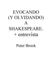 Entrevista a Peterr Brook