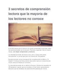 3 secretos de comprensión lectora que la mayoría de los lectores no conoce.docx