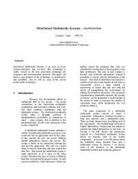 distributed multimedia system
