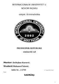 Ustavno pravo-Predsednik republike