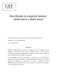 describiendo la ocupación humana