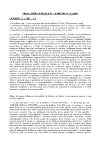 Ultima lezione del Corso di Diritto processuale penale II tenuto dal prof. F. Caprioli