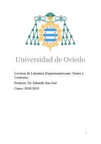 Apuntes Lit. Hispanoamericana (Temas 1 y 2)