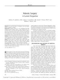 Robotic Surgery Essay