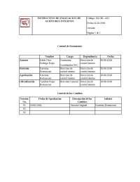 instructivo de evaluación de auditores externos