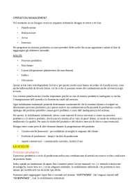 Il sistema di produzione delle aziende industriali - operation management