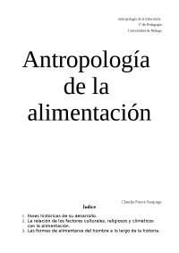 Trabajo Antropología de la Alimentaicón