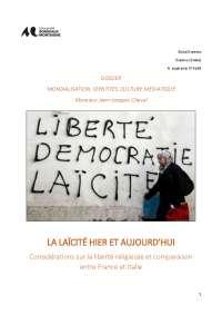 Dossier sulla Laicità e la libertà religiosa