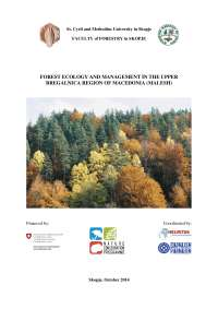 Forest Ecology and Management in the Upper Bregalnica Region of Macedonia
