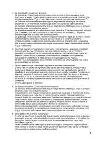 Fondamenti di Linguistica - DOMANDE CON RISPOSTE