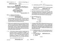 MAM (MBA-I) 2016 question paper