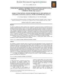 CONSUMO DE ENERGÍA Y DISTRIBUCIÓN DE TAMAÑO DE PARTÍCULA EN LA MOLIENDA DE CANELA (Cinnamomum zeylanicum) Y PIMIENTA NEGRA (Piper nigrum L)