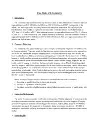 Case Study of E-Commerce