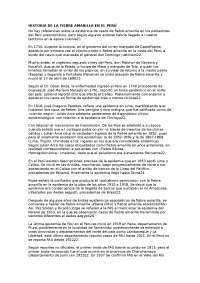 HISTORIA DE LA FIEBRE AMARLLA
