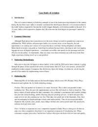 Case Study of Aviation