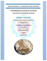 Fosfatos del Perú y regiones