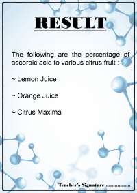 Detection Of Vitamin C