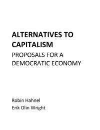 Alternativas al capitalismo