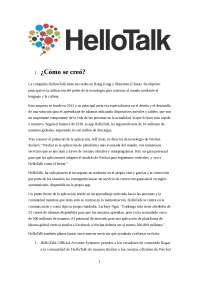 Trabajo edición de hellotalk