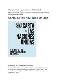 ONU Relaciones Internacionales