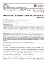 Interdependencia entre calidad de la clase y la promoción en la universidad