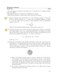 Problemas mecanica clasica 3