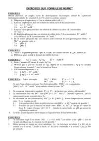 Exercice sur formule de Nernst