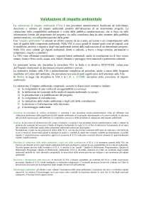 valutazione d'impatto ambientale