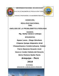 Analasis de la problematica peruana