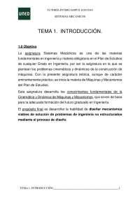 Sistemas Mecánicos. Uned. Tema 1. Introducción