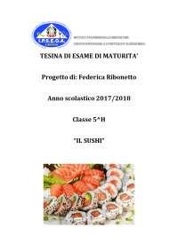 Tesina di Maturità Sushi