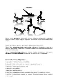 breve approfondimento sulla ginnastica