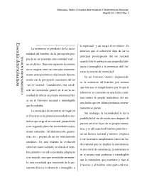 Essentia determinatum Y Determinismo Racional