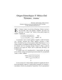 Origen Etimológico Y Mítico Del Término reuma