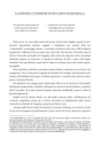 La DEVEINE CUMMEDIE - traduzione in dialetto cerignolano della Commedia.