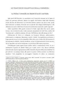 Le traduzioni dialettali della Divina Commedia.
