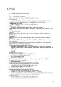 Assoziatives Lernen VL