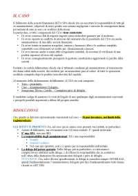 Risoluzione Caso Pratico - Diritto Commerciale Avanzato