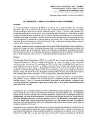 El concepto de trabajo en la jurisprudencia colombiana