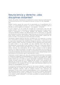 DISTANCIA ENTRE LA NEUROCIENCIA Y EL DERECHO