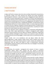 TESINA ESAME DI MATURITA'  ''INETTITUDINE''