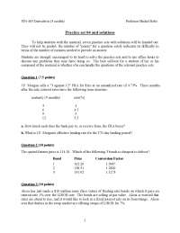 Test for Corporate Finance